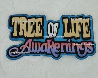 DISNEY Tree of Life AWAKENINGS Die Cut Title Scrapbook Page Paper Piece - SSFF