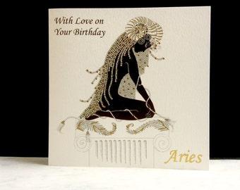 Birthday Card - Aries Sign