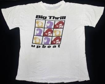 RARE VINTAGE 80s UP beat japan j rock punk new wave tour concert t shirt