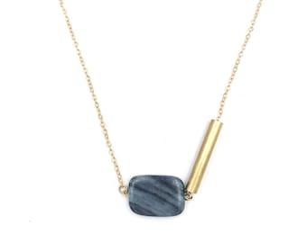 Asymmetric Marble Necklace