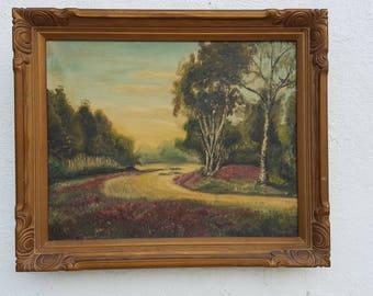 1948 T. Donaldson Oil On Canvas Landscape  painting .