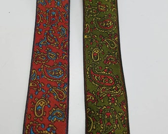 Paisley fabric trim so by the yard