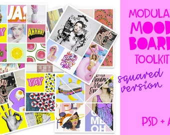 Modular Mood Board Toolkit for Photoshop and Illustrator // Instant Download