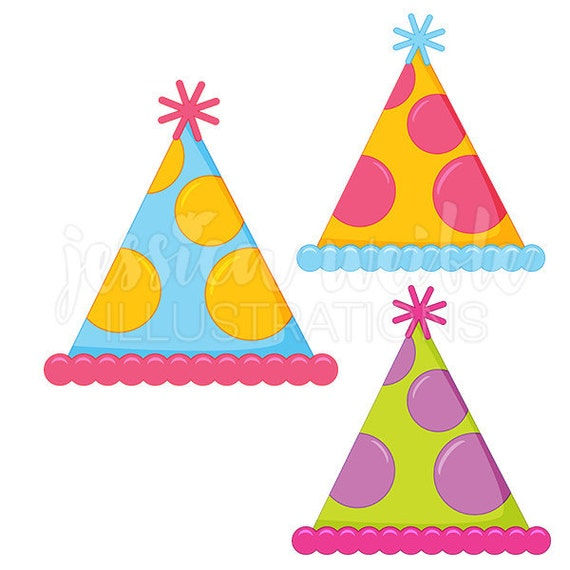 polka dot party hat cute digital clipart party hat clip art party rh etsystudio com clipart party hats party hat clipart png