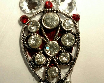 XL Clear and Red Crystal Bindi