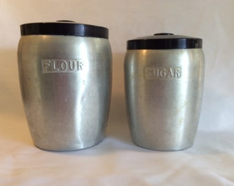 Vintage Spun Aluminum Canisters