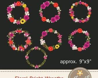 50% OFF Wedding Flower Wreath Clipart, Wedding Flowers, Flower Bunches, Floral Arrangement for digital Scrapbooking, Wedding, Birthday Invit