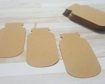 Mason Jar Tags, Mason Jar Kraft Paper, Scrapbooking, Card Making, Stationary, Confetti & More
