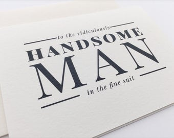 To My Groom Wedding Stationery / Future Husband Wedding Day Card / Wedding Card Groom Gift / Wedding Keepsake Romantic Card