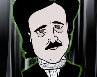 Edgar Allen Poe Ghost Print