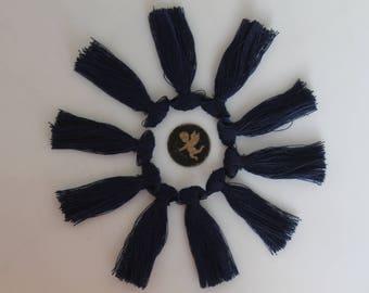 Navy 10 charm blue tassel fringe - jewelry - 40 mm