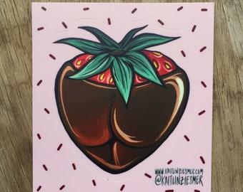 Dirty Desserts ChocolateStrawberry Sticker!