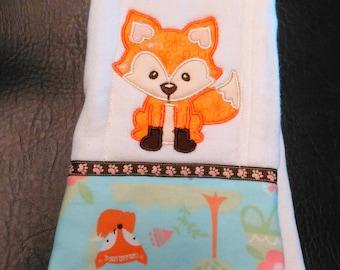 Fox burp cloth