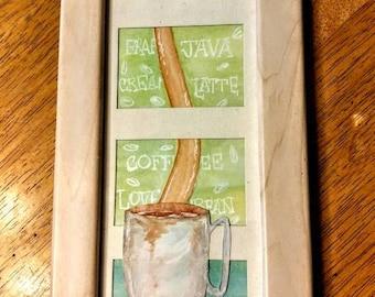 Cafe' framed watercolor