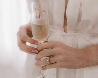 Personalised Subtitled Horizontal Name Premium Champagne Flute