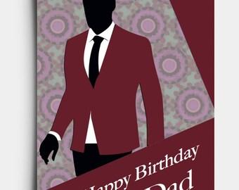 Happy Birthday Dad - Greetings Card