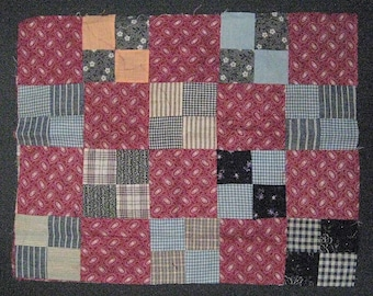 """Vintage Quilt Top Piece for Repurpose/Sewing/Crafts-Size is 18"""" wide x 15"""" high"""