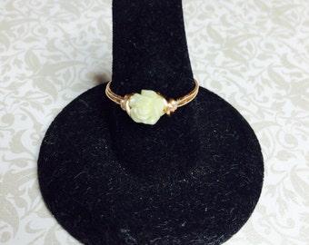 Tiny rose ring