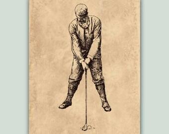 Golf art, Golf decor, Golf poster, Retro golf, golfer prints, gift for golfers, Golf club, Golfing player gift, Golf 2 Instant download