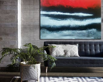 Art Large Contemporary Original Abstract Art Canvas Oil Acrylic Painting Modern Canvas red modern painting Home decor Painting on Canvas