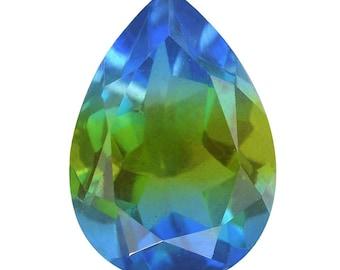 Blue Nile Triplet Quartz Loose Gemstone Pear Cut 1A Quality 13x9mm TGW 3.85 cts.