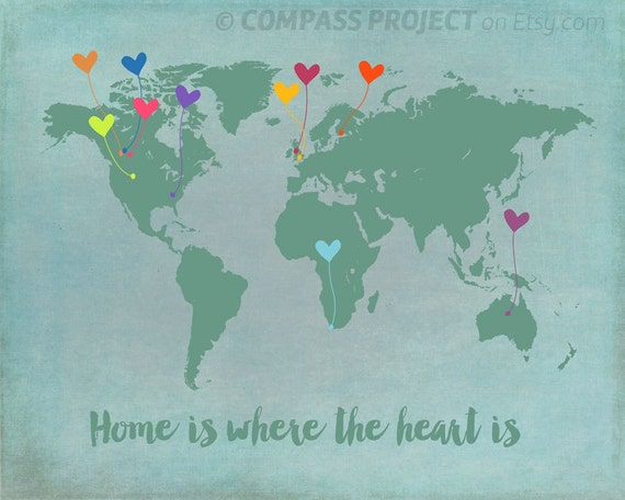 Customized world map customized map with heart mother gumiabroncs Images