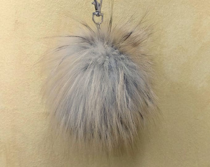 Fox Fur Pom Pom, Bag Pom Pom,Fur keychain F604