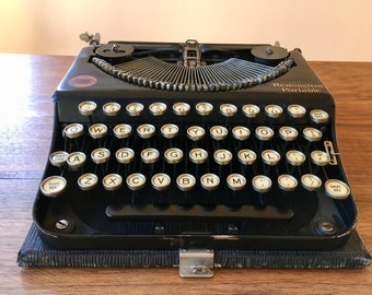 1923 Remington Portable Typewriter with Case, No 1
