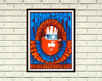 Reprint of a 60's Summer of Love Frank Zappa Music Poster