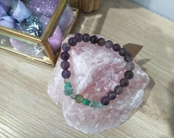 Amethyst & Jade Bracelet #003