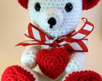 Valentine Bear (Amigurumi/Crochet) stuffed animal toy