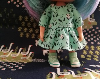 Dress clothes for Muichan doll doll dress Mini Muichan Doll Blythe Middie