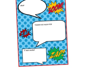 INSTANT DOWNLOAD Super Hero Thank You Notes  PDF