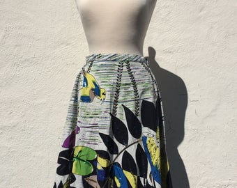 Vintage 1990's Tropical Skirt * Size Small to Medium