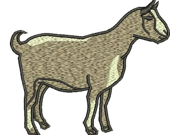goat  Machine Embroidery Design tested