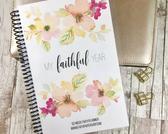 Mothers Day Gift, Weekly Planner, Daily Devotional, Christian Gift, Prayer, Gratitude, Bible Journaling, Bible Verse, Scripture.  Delicate.