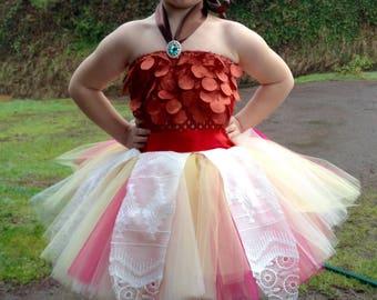 Private listing* Moana inspired tutu dress costume, ballet dance class recital