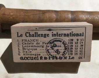 Wood Mounted French International Rubber Stamp, Embellishments, Stamping, Scrapbooking, Junk Journaling
