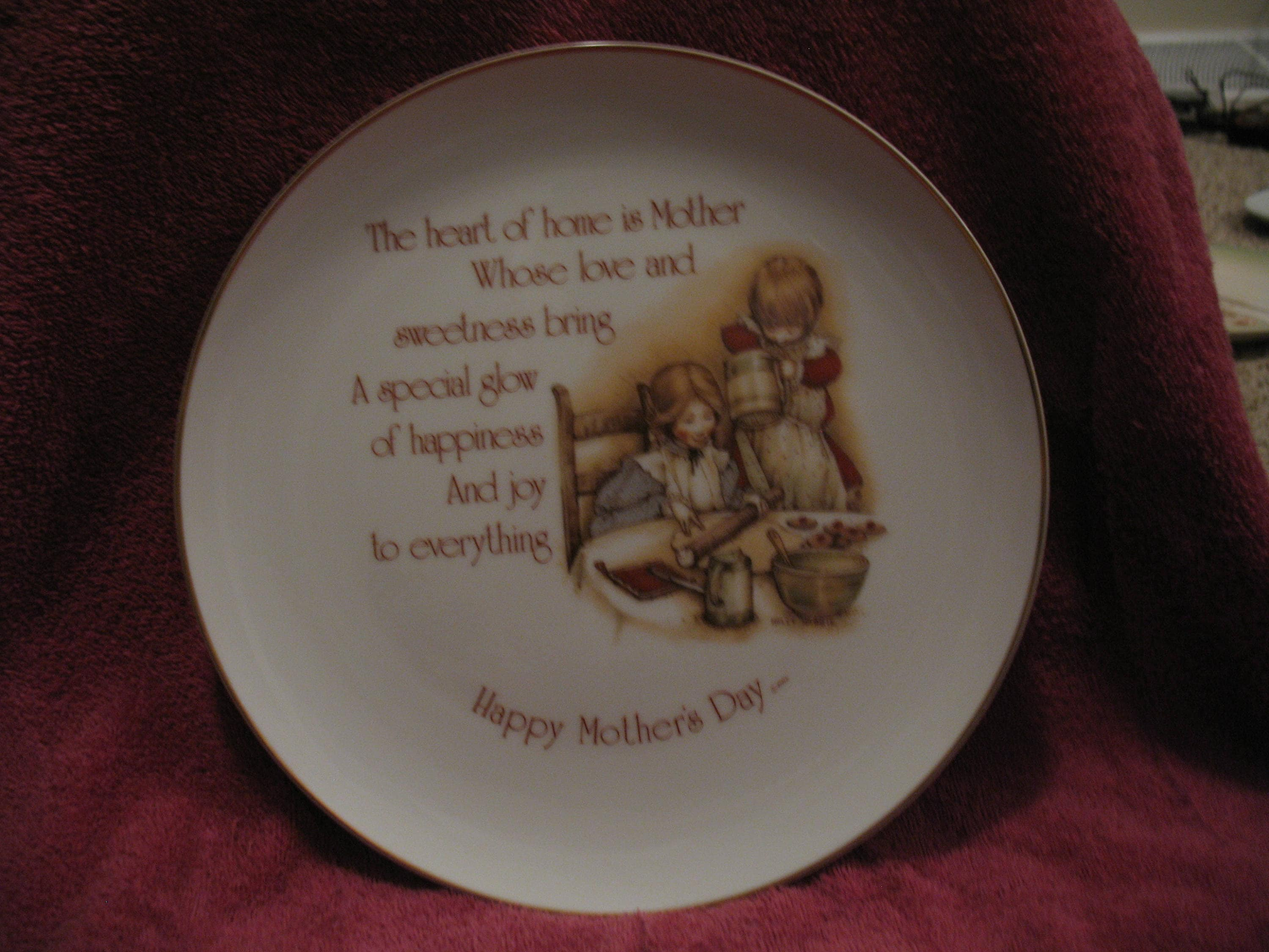 Vintage holly hobbie porcelain plate the heart of home zoom reviewsmspy