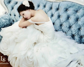LS29/ Phoenix/ Trumpet weddingdress with ruffle skirt