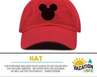 Mickey Head Disney Hat Toddler Boy or Girl - Kids Disneyland Hat Mickey Mouse - Disney Mickey Baseball Cap - Trendy Bday Gift Hipster Adult
