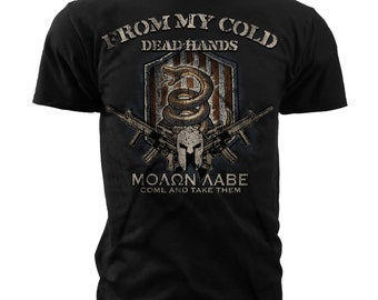 Black Ink Men's From My Cold Dead Hand T-Shirt (MT668)