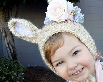 Bunny Crochet Bonnet