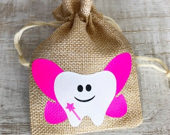 Tooth Fairy Bag-Wings and Wand Tooth