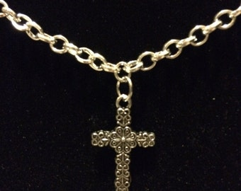 Child's Silver Cross Necklace