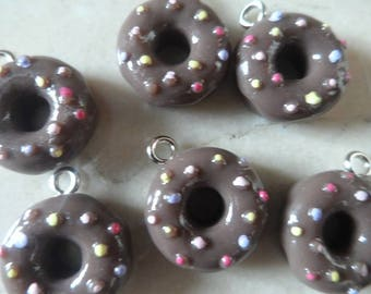 set of 6 cupcake charms Donets 15 mm