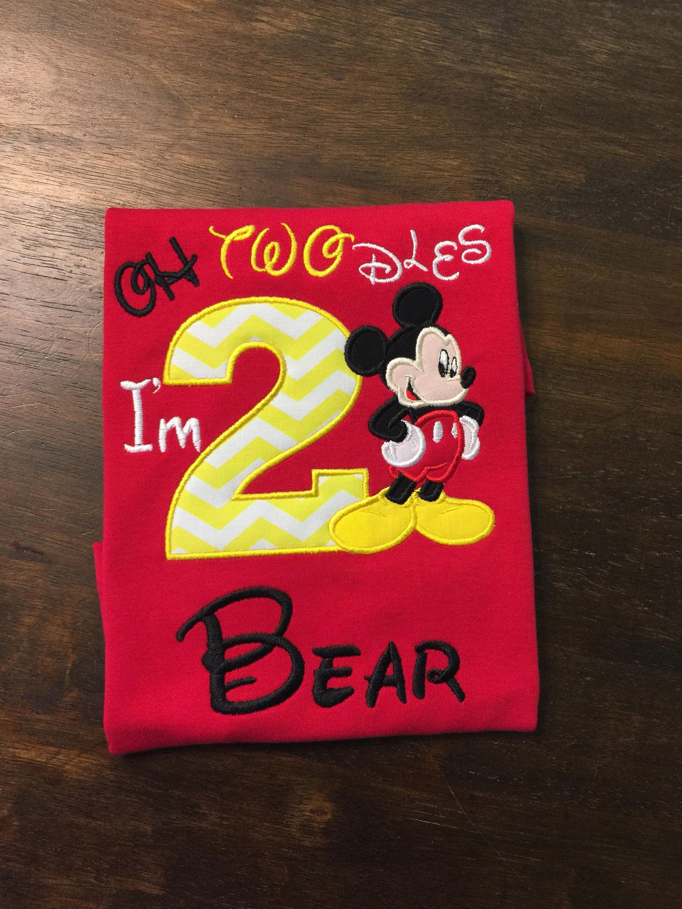 Mickey Mouse 2nd Second Birthday Shirt // Mickey Mouse Shirt