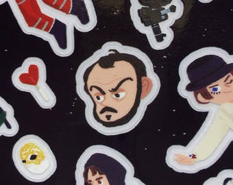 Stanley Kubrick's movie collection transparent stickers