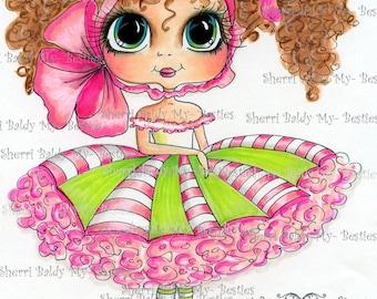 INSTANT DOWMLOAD Digital Digi Stamps Big Eye Big Head Dolls Digi  My Besties Button Betty By Sherri Baldy
