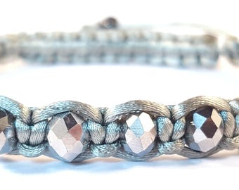Silver Swarvoski Crystal Shambella Style Woman's Bracelet, Crystal Bracelet, Crystal Jewellery, Gemstone Bracelet, Gemstone Jewellery, Gift